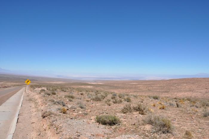 never ending road in the Atacama Desert Chile