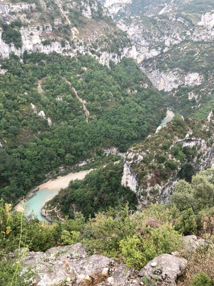 Scenic view of orges du Verdon, Provence