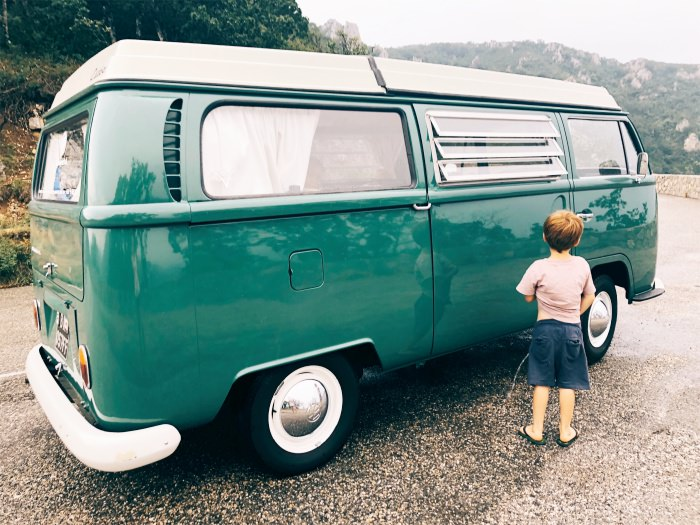 roadside stop with our VW combi vintage