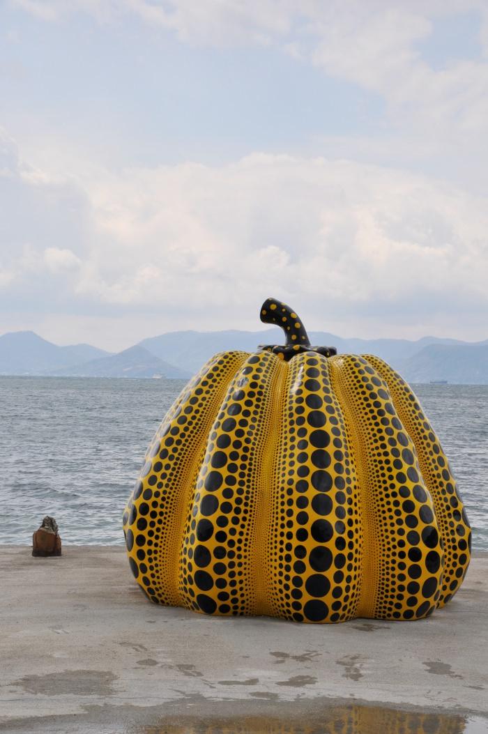 Yayoi Kunama pumpkin in Naoshima island