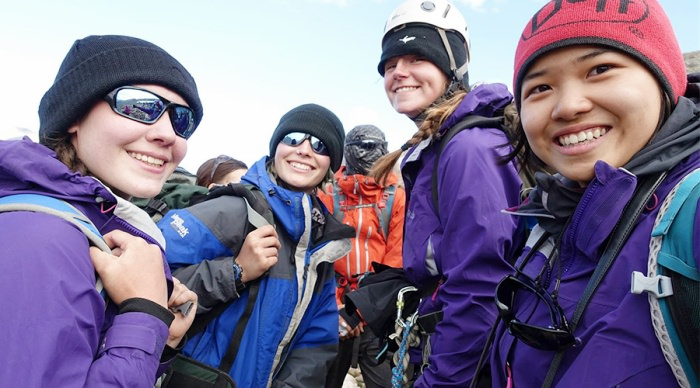 Team of explorers on expeditions with British Exploration Society