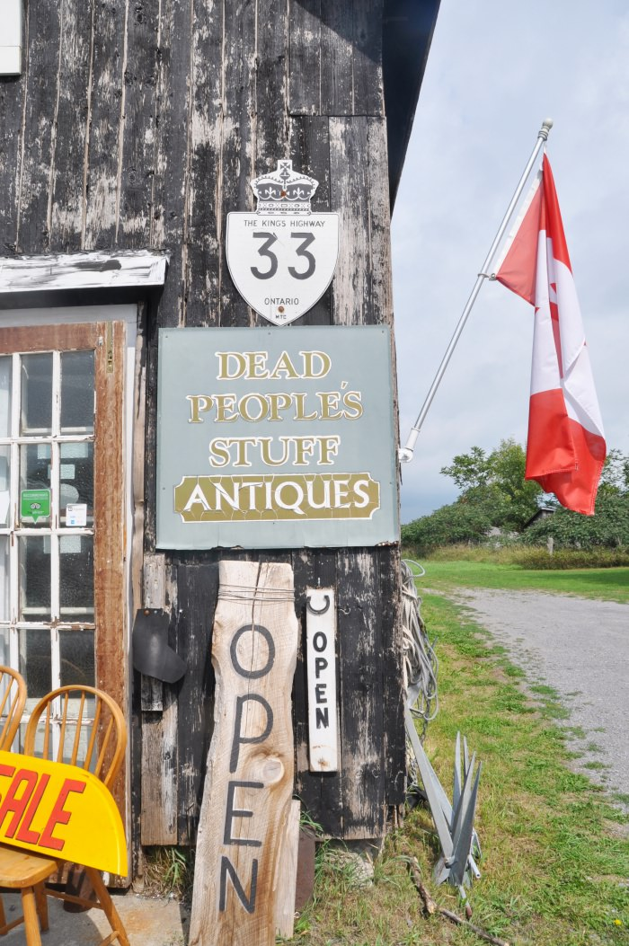 Antique shop on Prince Edward County