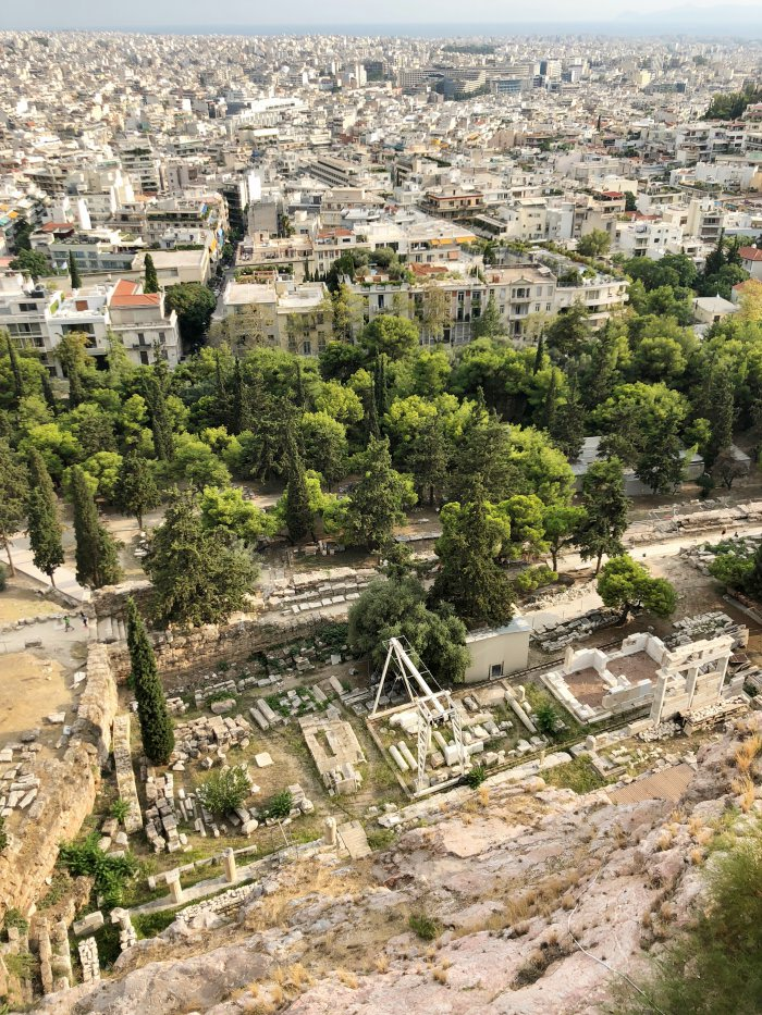 view from the acropolis onto Athens