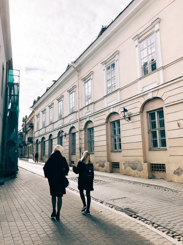cobbled stone streets in Vilnius, Lithuania: old charm in the old town
