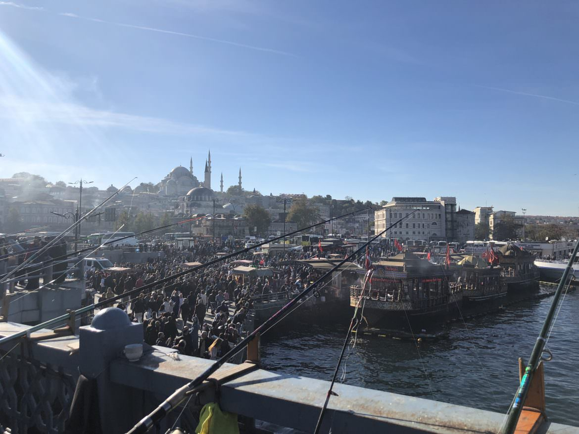 snapshot of the Golden Horn Istanbul