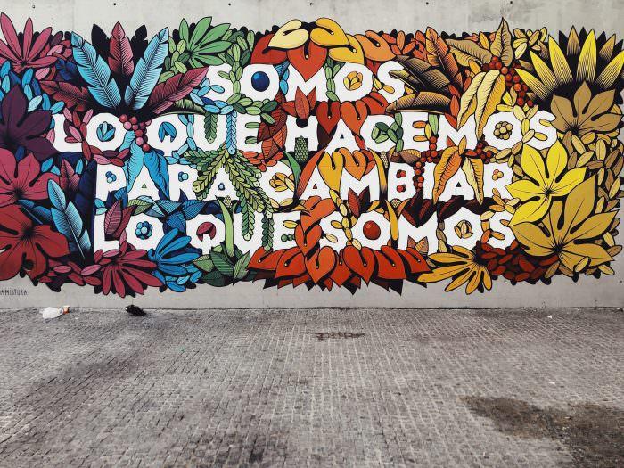 graffiti wall in Lavapies Somos lo que hacemos