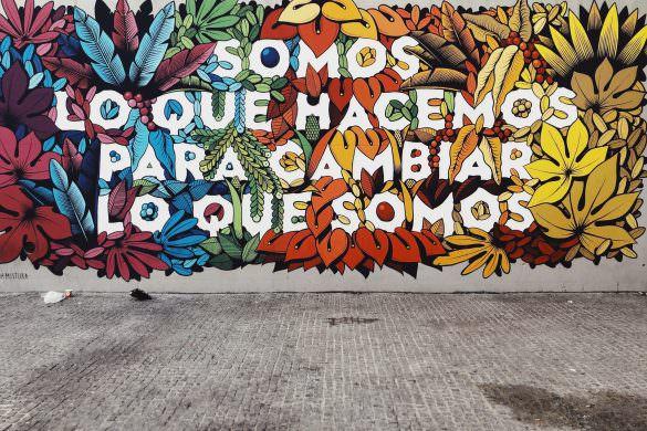 graffiti wall in Lavapies