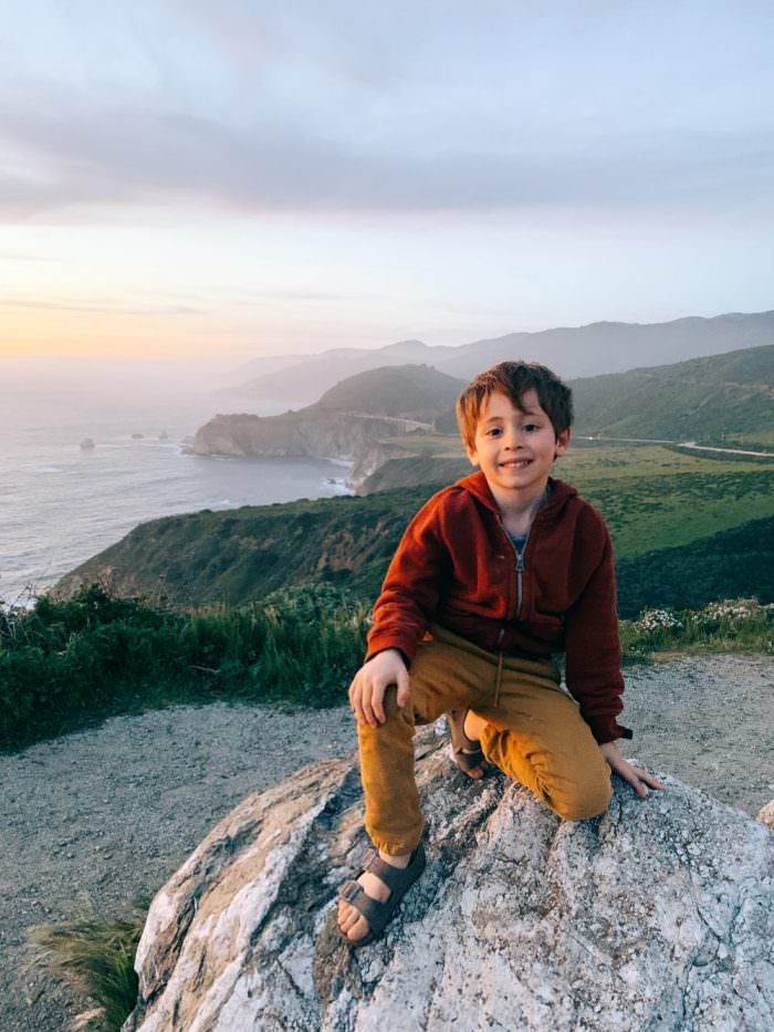 boy, cliff, california, coast