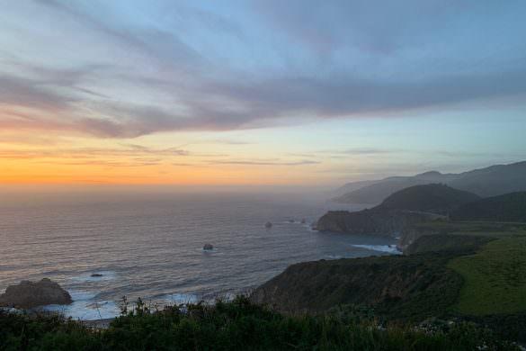 Pacific coast line, big sur