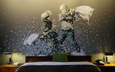 At the Banksy hotel