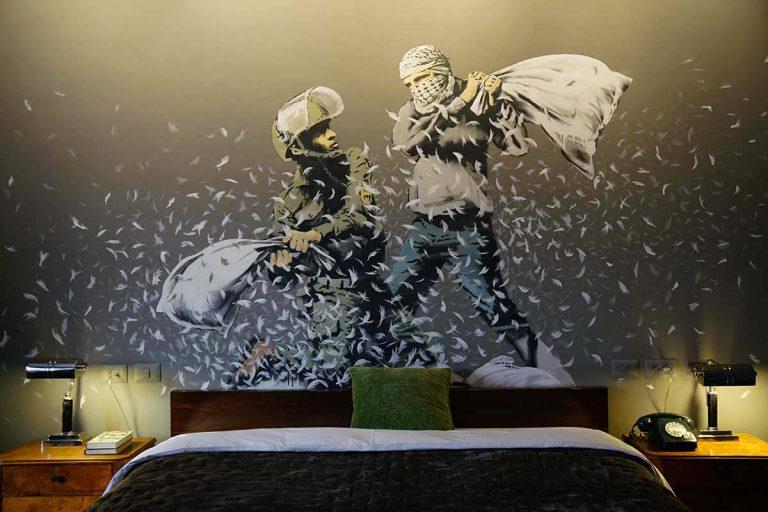 At the Banksy hotel